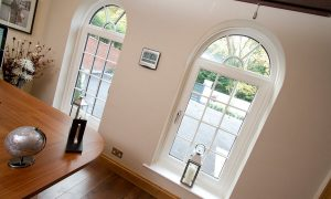 White uPVC tilt and turn windows interior view