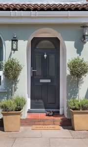 Anthracite grey Residor entrance door