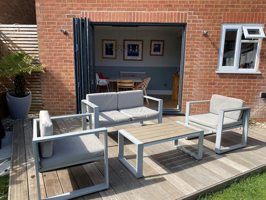 Outside BiFold Doors Leicestershire